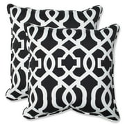 Pillow Perfect Outdoor/ Indoor New Geo Black/White 18.5-inch Throw Pillow (Set of 2)