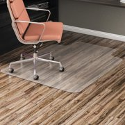 Alera All Day Use Non-Studded Chair Mat for Hard Floors, 36 x 48, Lipped, Clear -ALEMAT3648HFL