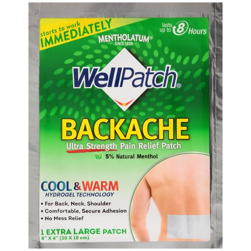 Mentholatum Well Patch Backache Extra Large Ultra Strength Pain Relief Patch