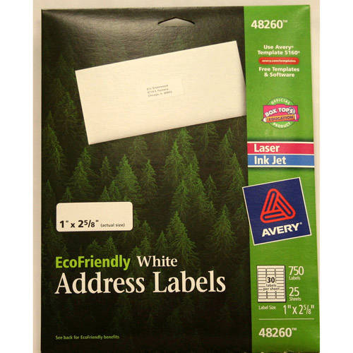 Avery Eco Address Label, White, 750-Count