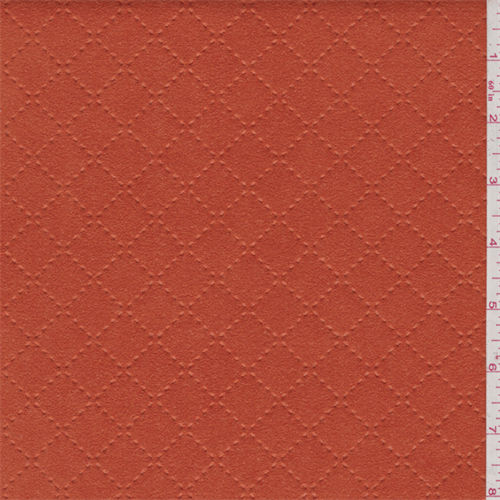 Orange Quilted Ultrasuede, Fabric By the Yard