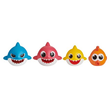 Pinkfong Baby Shark Bath Squirt Toy - 4-pack - By WowWee