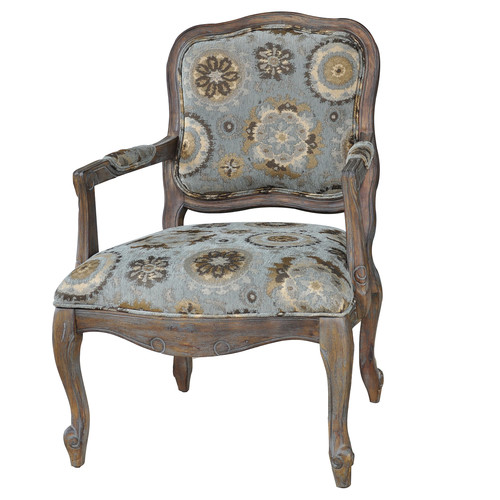 Crestview Collection Hillcrest Rustic Frame and Pattern Armchair