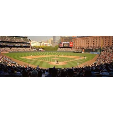 Camden Yards Baseball Game Baltimore Maryland USA Canvas Art - Panoramic Images...