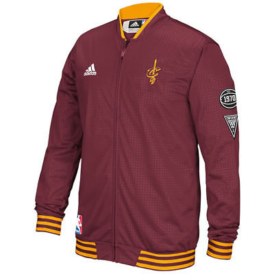 Adidas Cleveland Cavaliers Men's On Court Warm-Up Jacket Maroon by Adidas