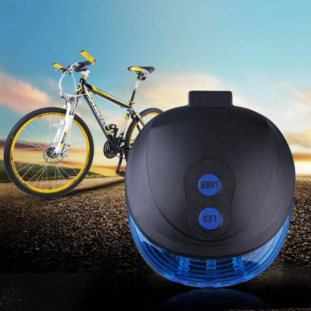 5 LED Laser Beam MTB Mountain Bicycle Bike Rear Tail Warning Lamp Light