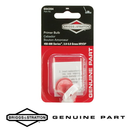 Briggs & Stratton 5084K Genuine Primer Bulb 694394 - Fits Sprint, Quattro,  and 450-600 Series Engines