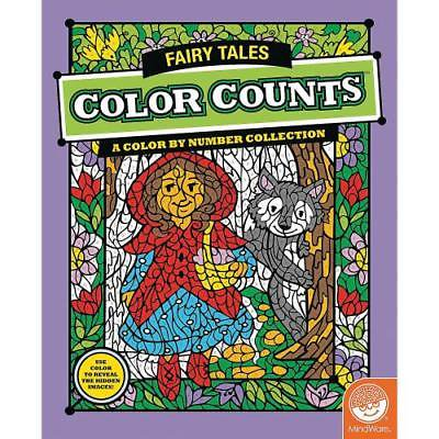 IN-13726928 MindWare  Color Counts - Fairy Tales Coloring Book