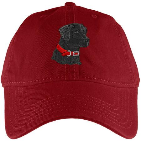 Dog Black Lab Labrador Retreiver Red Adjustable Cap