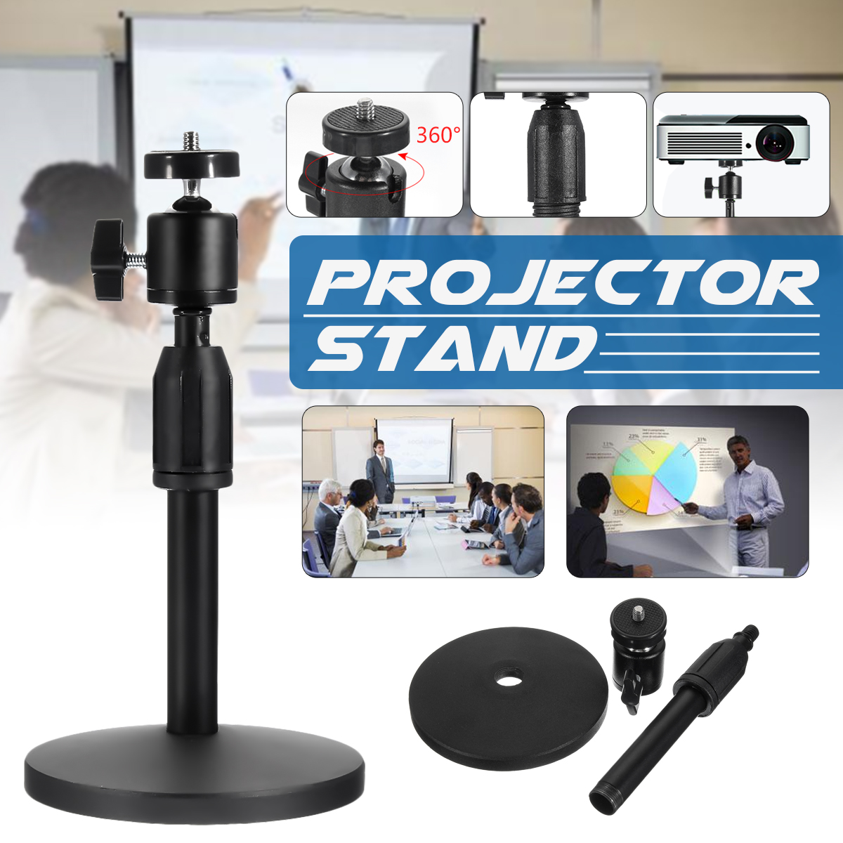 Universal Laptop & Projector Presentation Camera Stand— Multifunction Stand with Adjustable Height 21-30cm