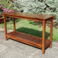 Highland 2-Tier Wood Console Table