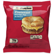 Jimmy Dean® Sausage, Egg and Cheese Croissant Sandwich, Individually Wrapped, 4.5 oz