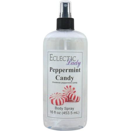 Peppermint Candy Body Spray, 16 ounces (Winter Candy Body Spray)