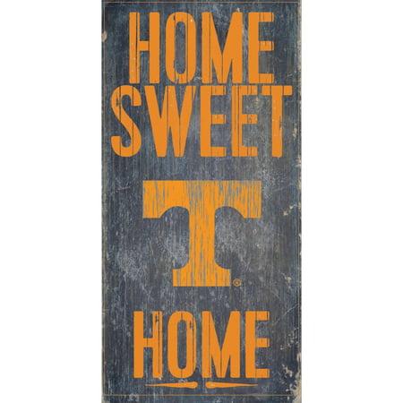 Tennessee Volunteers 6'' x 12'' Home Sweet Home Sign - No (Volunteers Sign)