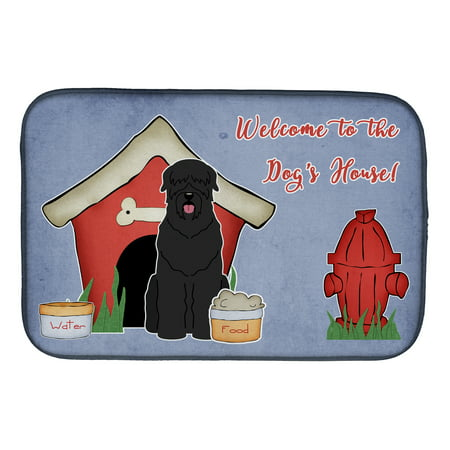 Dog House Collection Black Russian Terrier Dish Drying - Black Russian Terrier Dogs
