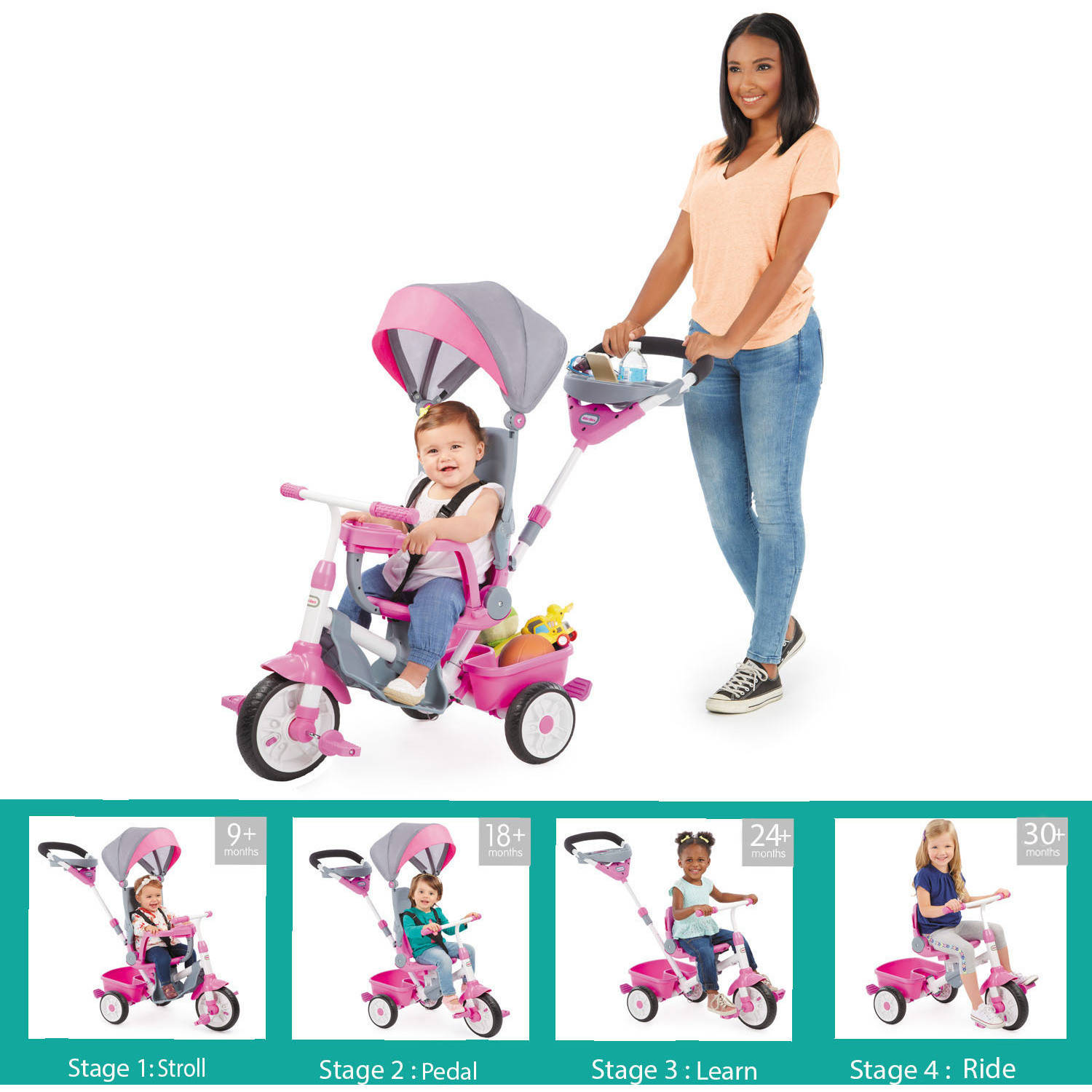 Perfect Fit 4-in-1 Trike, Pink