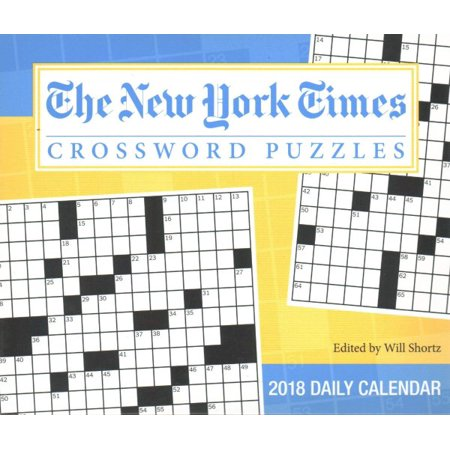 The New York Times Crossword Puzzles 2018 Calendar