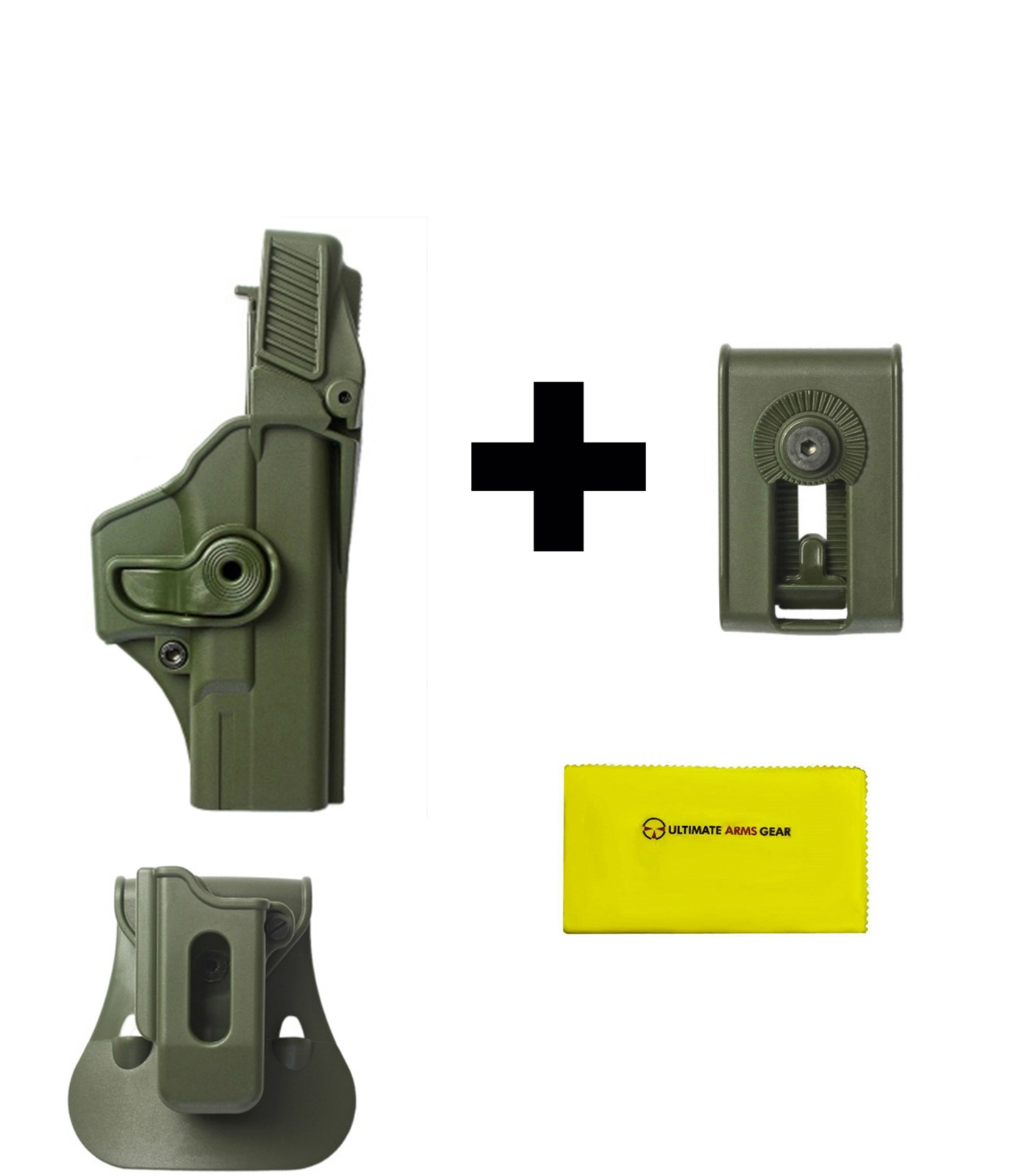 Click here to buy IMI Defense ZSP08 Single Mag Pouch & Paddle + Z1400 Level 3 360� Rotate Holster Glock 19 23 25 32 Gen 4, OD Green +....