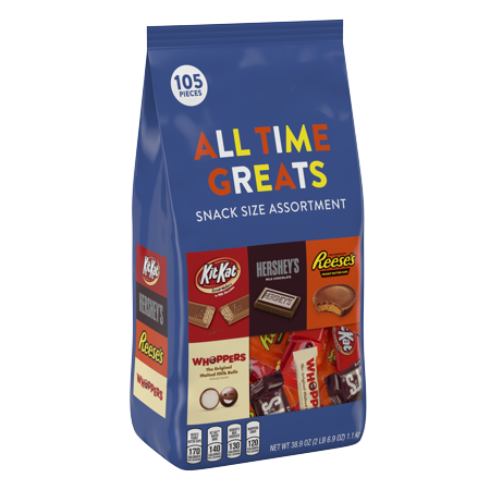 Hershey's, All Time Greats Snack Size Assortment, 38.9 (Hershey Pa Stores)