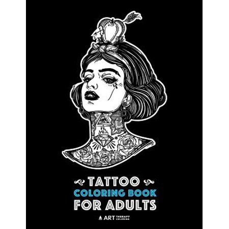Tattoo Therapy (Tattoo Coloring Books for Adults)