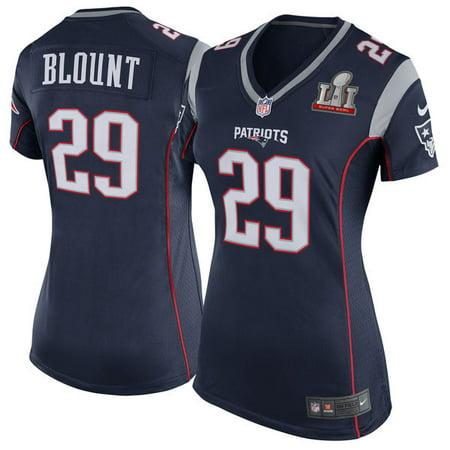 bdb69f03da0 Women s New England Patriots LeGarrette Blount Nike Navy Super Bowl LI  Bound Game Jersey - Walmart.com