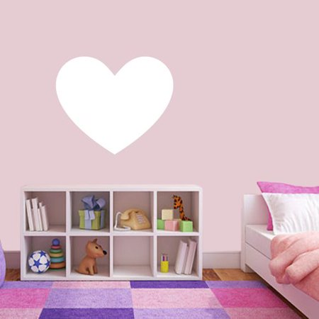 sweetums wall decals dry erase heart whiteboard wall decal - walmart