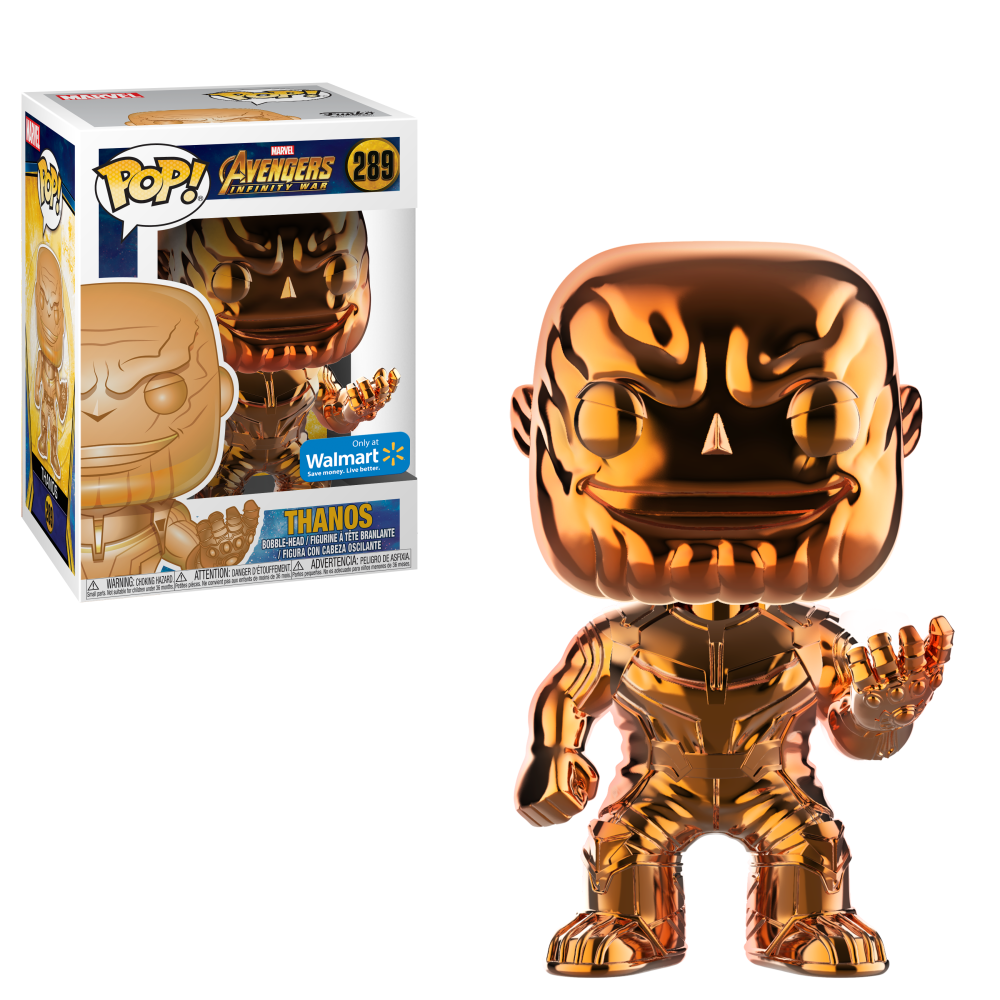 Funko POP Marvel: Infinity War - Thanos - Orange Chrome - Walmart Exclusive