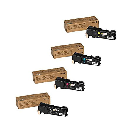 Xerox Phaser 6500, WorkCentre 6505 High Capacity Black and Standard Yield C/M/Y Color Toner Cartridge Set