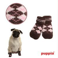 Argyle Dog Socks by Puppia - Brown - Medium