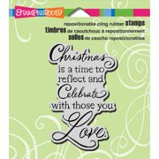 "Stampendous Christmas Cling Rubber Stamp, 4.75"" x 4.5"" Sheet"