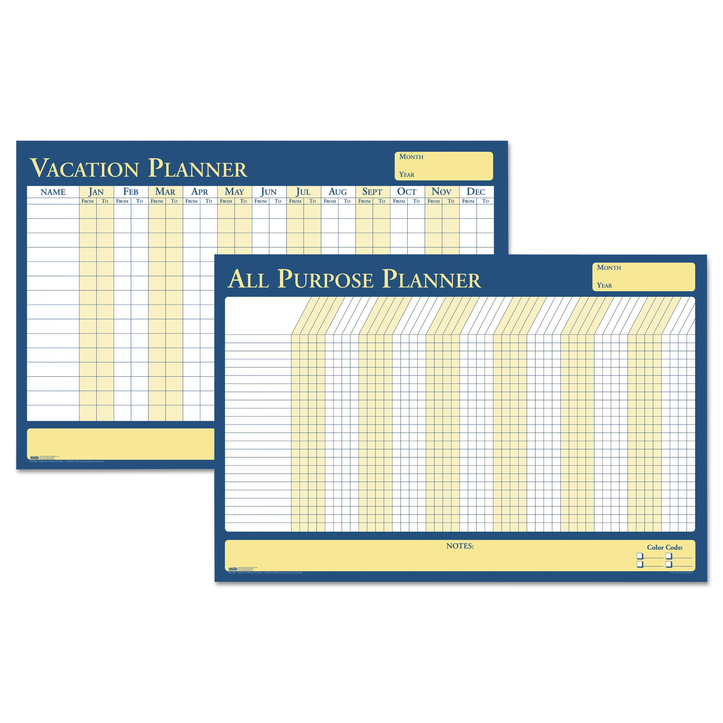 House of Doolittle All Purpose Laminated Vacation Planner