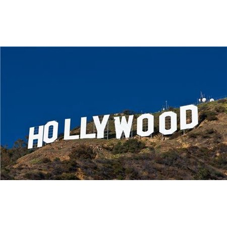 Laminated Poster Hollywood Sign Glossy Poster California Walk Fame Hills Decor Poster Print 24 x 36