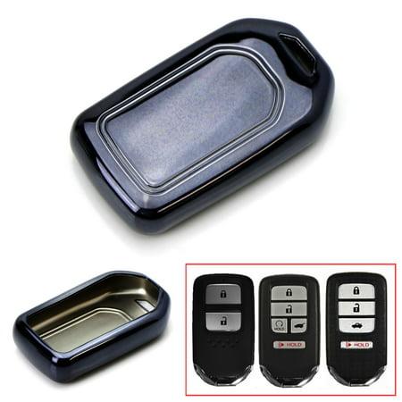 - iJDMTOY Chrome Finish Black TPU Key Fob Protective Cover Case For Honda Accord Civic Crosstour HRV FIT Odyssey Ridgeline, etc