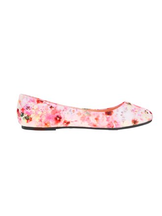 Time and Tru Women's Basic Ballet Flat