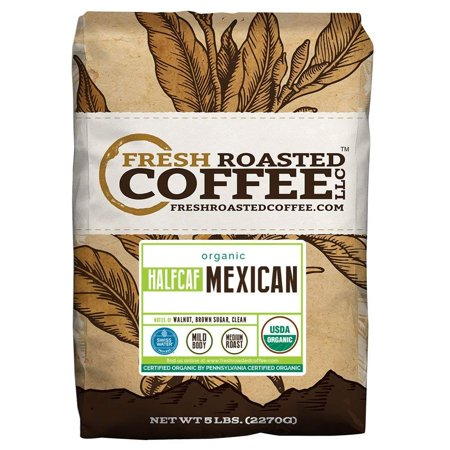 Mexican Half Caf Organic, Whole Bean, Fresh Roasted Coffee LLC (5 Lb.) (Fresh Roasted Coffee Llc Organic)