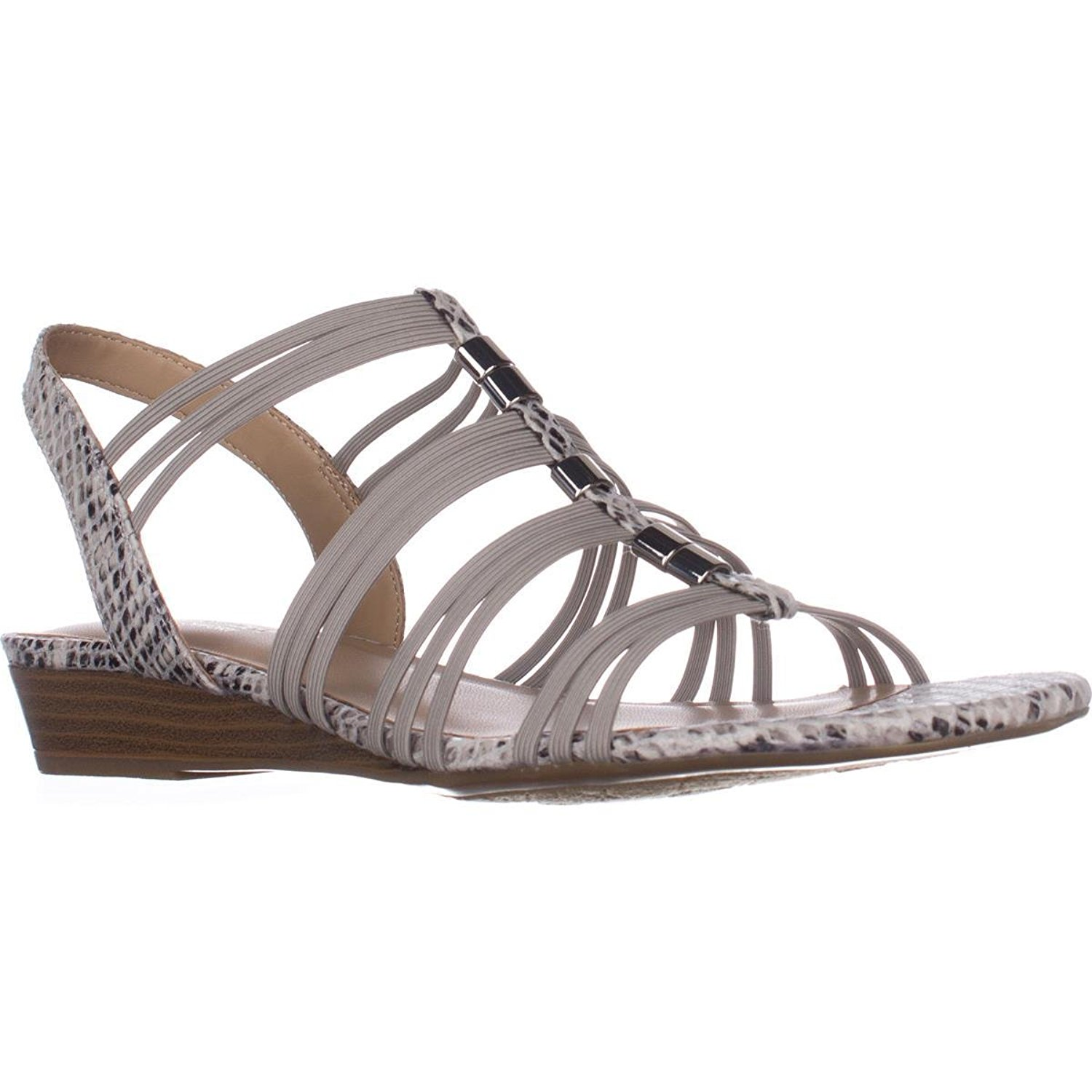 Naturalizer Womens Jilly Fabric Open Toe Casual Wedged Sandals by Naturalizer