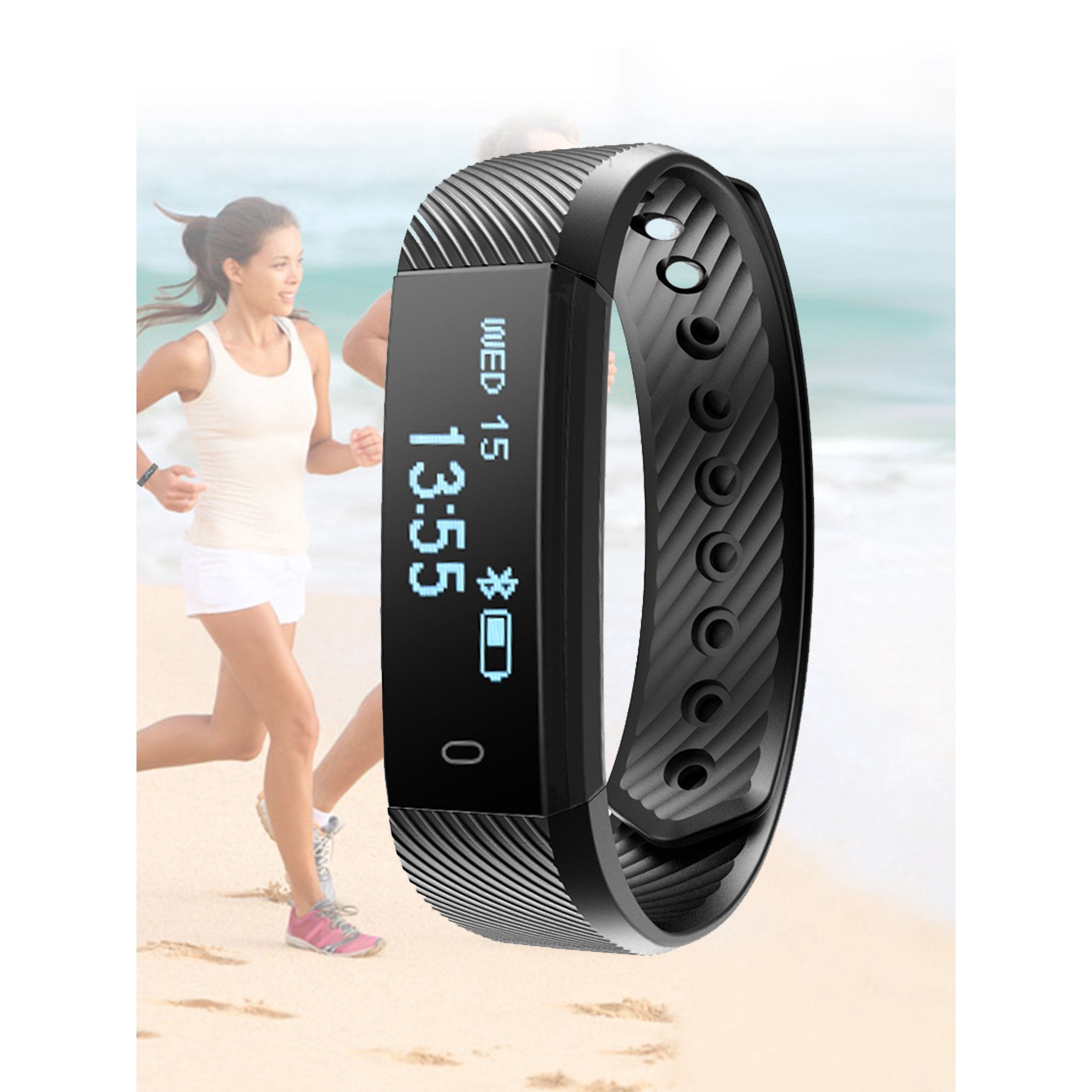 Objective Waterproof 1.5 Inch Display Message Remind Bluetooth Smart Bracelet Fitness Tracker Heart Rate Monitor Smart Wristband 2019 Watches