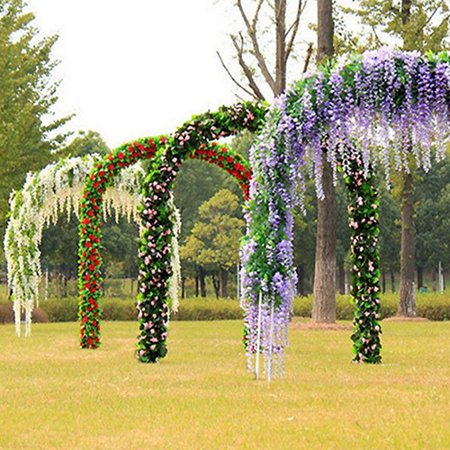 - Girl12Queen Artificial Wisteria Flowers Vine Silk Flower Wedding Garden Party Hanging Decor