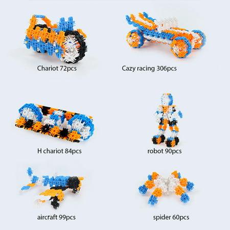 94PCS Snowflakes Children's Puzzle Kids Building blocks DIY Assembly Toys Enlighten Wisdom Design Boys Girls - image 7 of 8