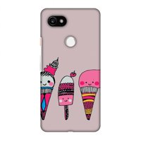 Google Pixel 2 XL Case - Ice Creams- Pale plum, Hard Plastic Back Cover, Slim Profile Cute Printed Designer Snap on Case with Screen Cleaning Kit
