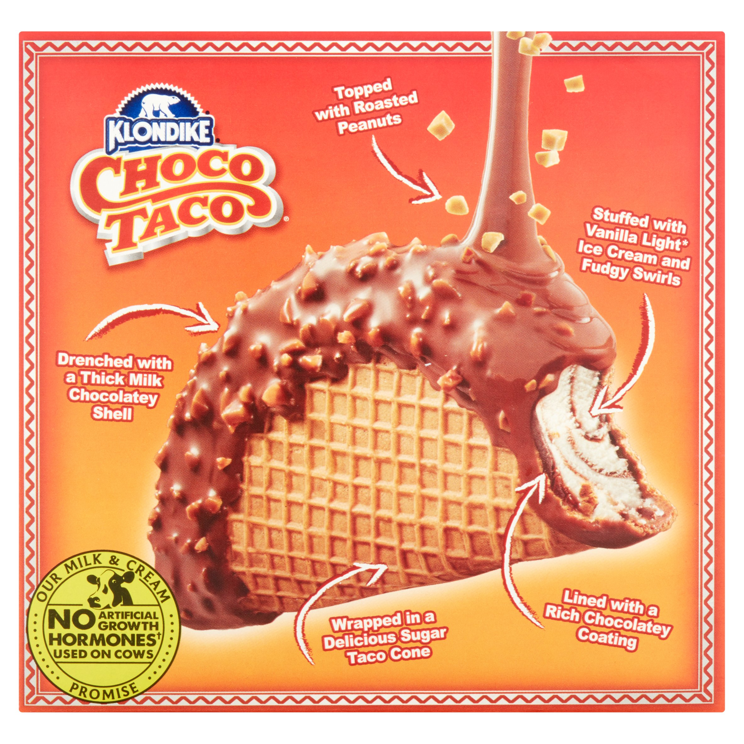 klondike choco taco the original light ice cream taco cones 3 5 fl