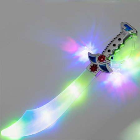 - LED Flashing Multicolor Buccaneer Pirate Sword, About 22 long By Flashing Panda