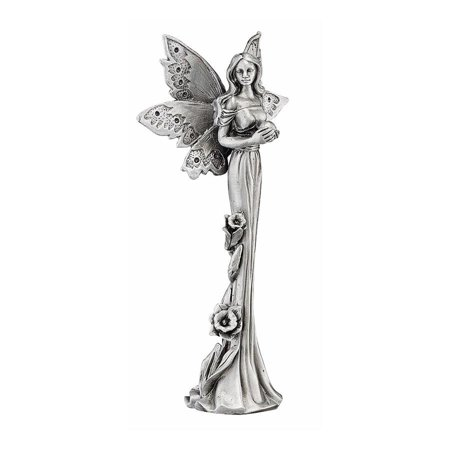 Pewter Fairy Sculpture (Design Toscano Natures Fairies: Daffodil Sculptural Fine Pewter)