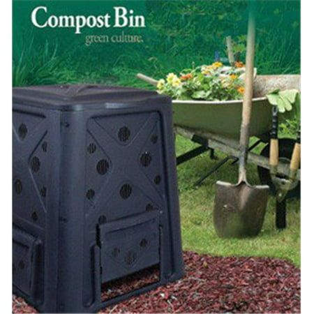 Compost Bin - 65 Gallon - Black (Bosmere 58 Gallon Country Wood Compost Bin)