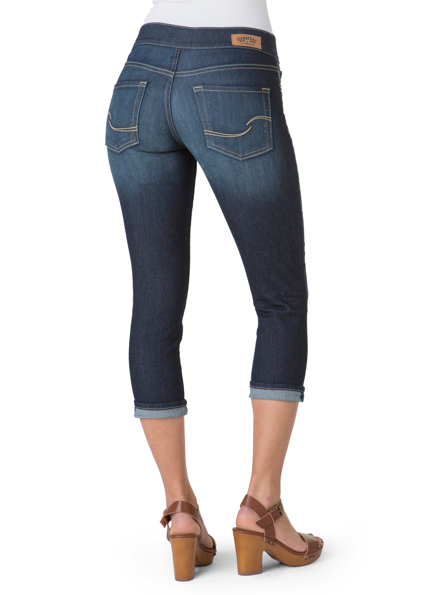 26f61a47ddef9 Signature by levi strauss & co. - Women's Marissa Pull On Capri ...