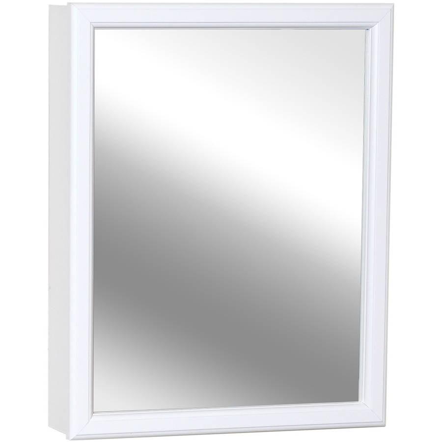 "Zenith W16 15.25"" x 19.25"" x 4.5"" White Swing Door Medicine Cabinet by Zenith Products"
