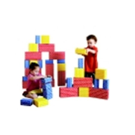 Childcraft Large Corrugated Blocks - Red, Set (Large Foam Blocks)
