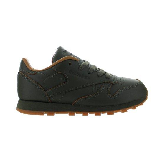 0670fc625c87 Kids Reebok Classic Leather Lux Kendrick Lamar PS Olive Night Gum Brow -  Walmart.com
