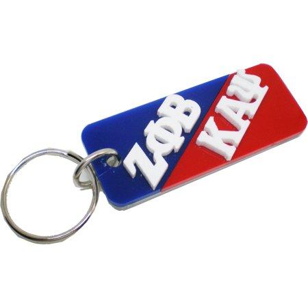 Kappa Alpha Psi Paddle - Zeta Phi Beta + Kappa Alpha Psi Mirror Split Keychain [Blue/Red - 3