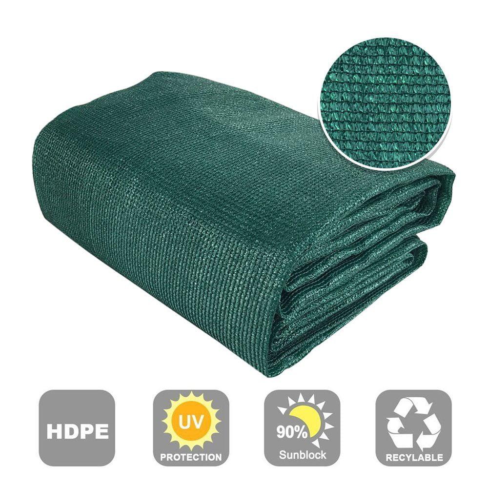 Shatex 90% Sun Shade Fabric for Pergola Cover Porch Vertical Screen 6' x 15', Dark Green